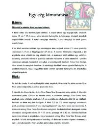 Cég kimutatása - Leírás (pdf.)