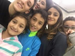 arianna and kids